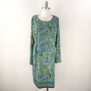 new Michael Kors 1X Turquoise Blue Green Paisley